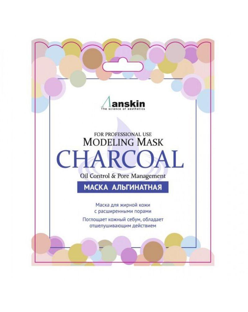 Anskin, Маска альгинатная, для жирной кожи, с расширенными порами (саше), Charcoal Modeling Mask / Refill, 25 гр.