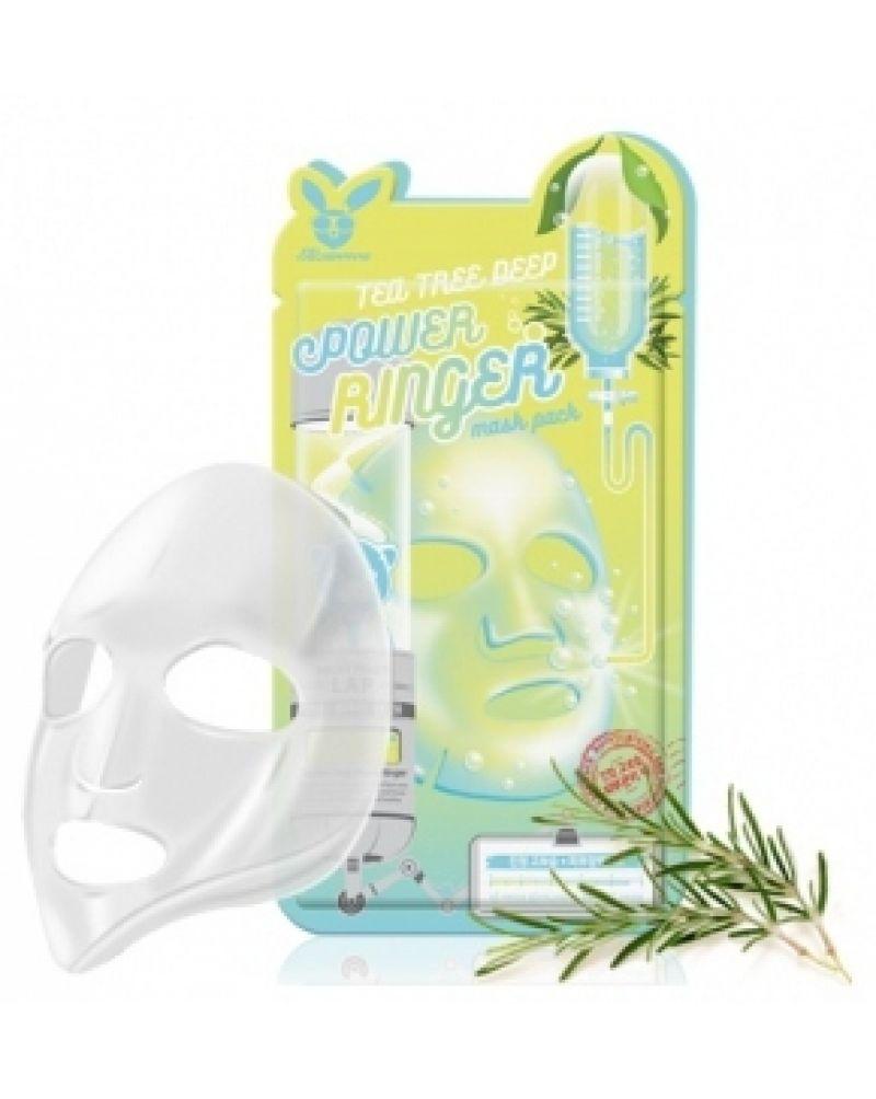 Elizavecca, Тканевая маска, для лица, Чайное Дерево, TEA TREE, DEEP POWER Ringer mask