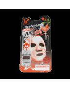 Elizavecca, Тканевая маска, для лица, Красный Женьшень, RED ginseng, DEEP POWER Ringer