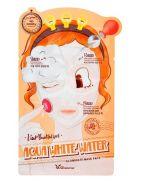 Elizavecca, Набор/Маска трехэтапная, УВЛАЖНЯЮЩАЯ, 3-step, Aqua White Water, Illuminate Mask Sheet