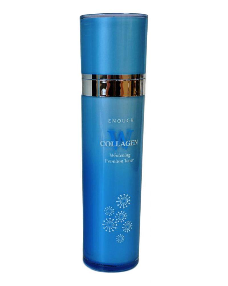 Enough, Осветляющая эмульсия, для лица, с коллагеном, W Collagen, Whitening Premium Emulsion, 130мл