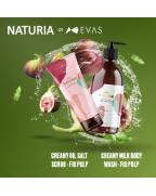 NATURIA, Скраб, для тела, ИНЖИР, Creamy Oil, Salt Scrub - Fig Pulp, 250 гр