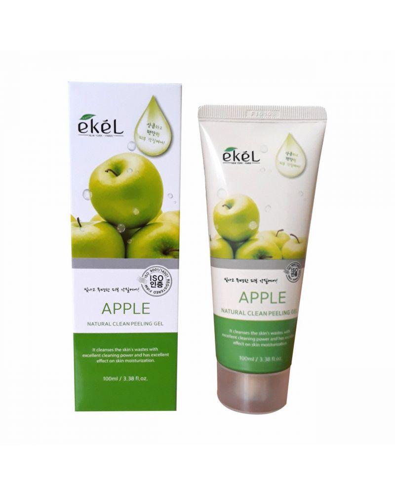 Ekel, Пилинг-скатка, с экстрактом зеленого яблока, Apple Natural, Clean Peeling Gel, 100 мл.