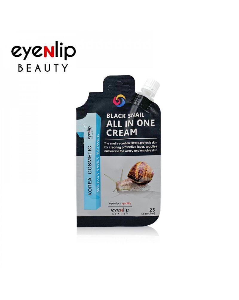 Eyenlip, Крем для лица, с экстрактом черной улитки, Black Snail All In One Cream, 25гр