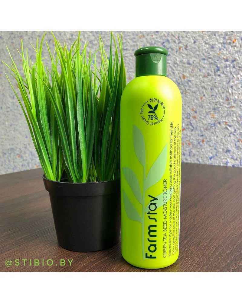 FarmStay, Увлажняющий тонер, для лица, с экстрактом семян зеленого чая, Green Tea Seed Moisture Toner, 300 мл