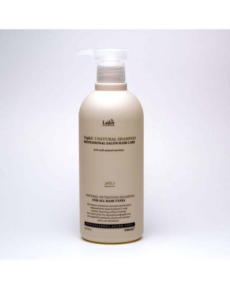 LA'DOR, Органический шампунь, для волос, TRIPLEX, NATURAL SHAMPOO, 530мл