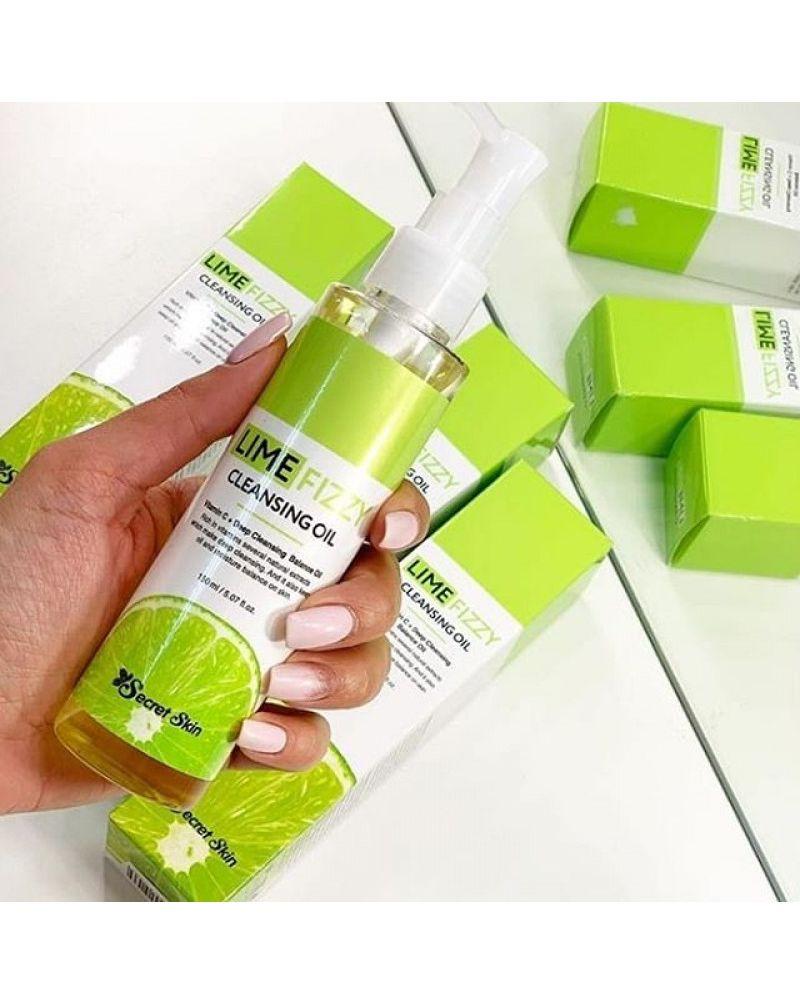 Secret Skin, Гидрофильное масло, с экстрактом лайма, Lime Fizzy, Cleansing Oil, 150 мл