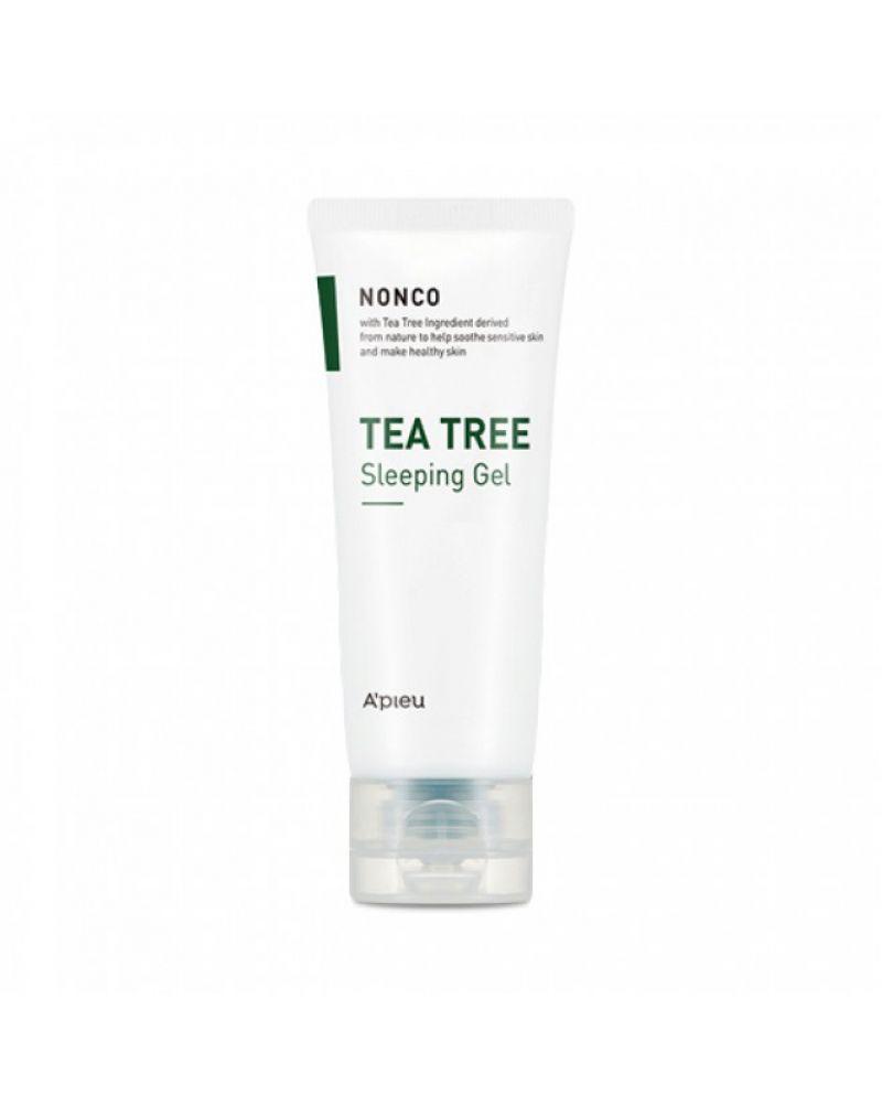 A'PIEU, Ночная маска, с маслом чайного дерева, NONCO, TEA TREE, SLEEPING GEL, 80 мл