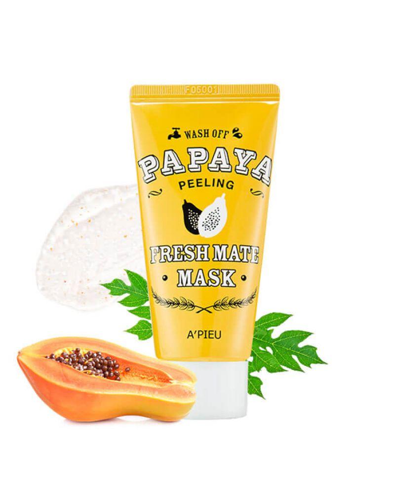 A'PIEU, Пилинг маска, для лица, Fresh Mate, Papaya Wash Off Mask (Peeling), 50 мл
