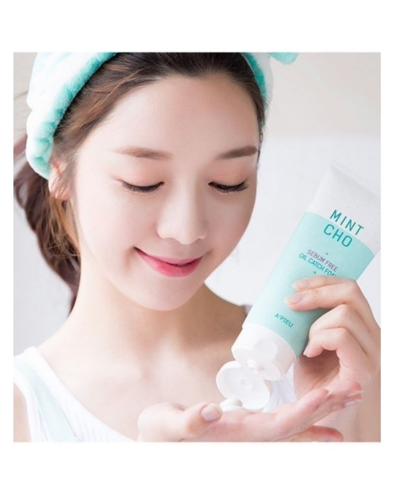 A'Pieu, Пенка для умывания, себорегулирующая, для жирной кожи, Mint Cho, Sebum Free, Oil Catch Foam, 150 мл
