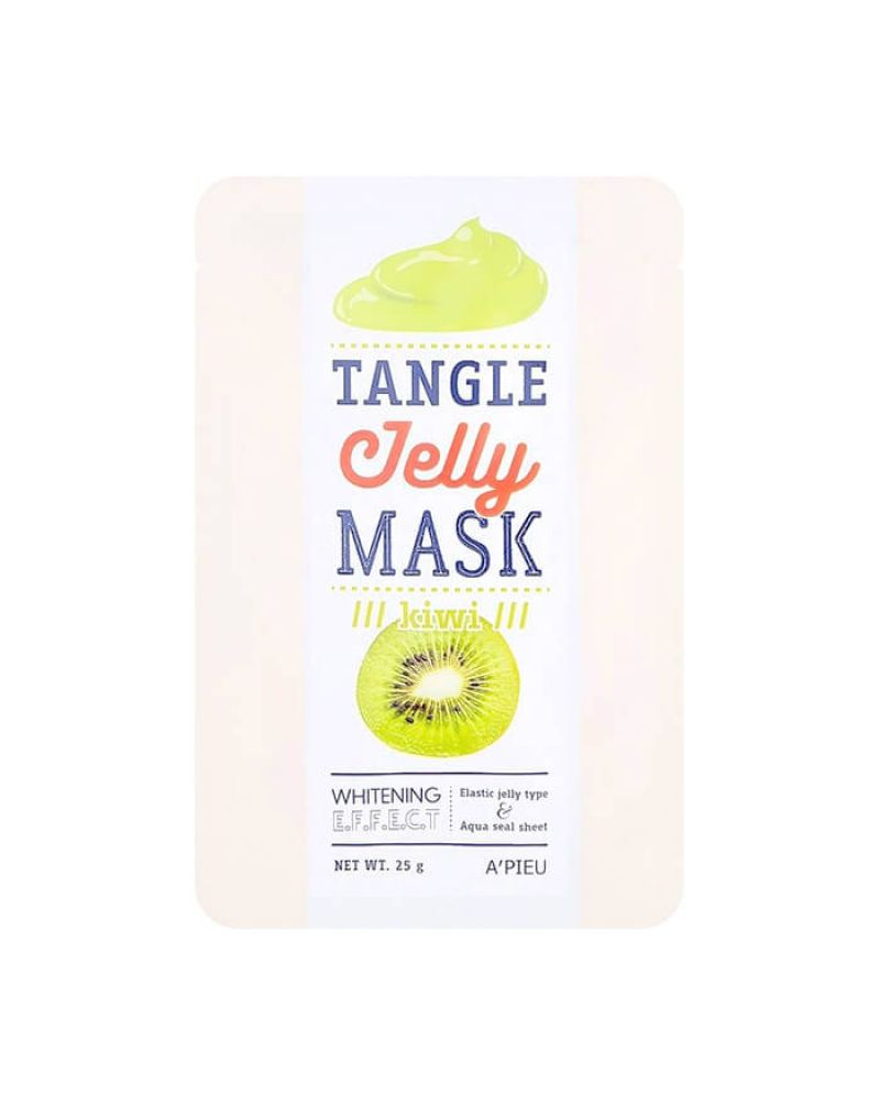 A'PIEU, Тканевая маска, для лица, КИВИ, Tangle Jelly Mask, Kiwi