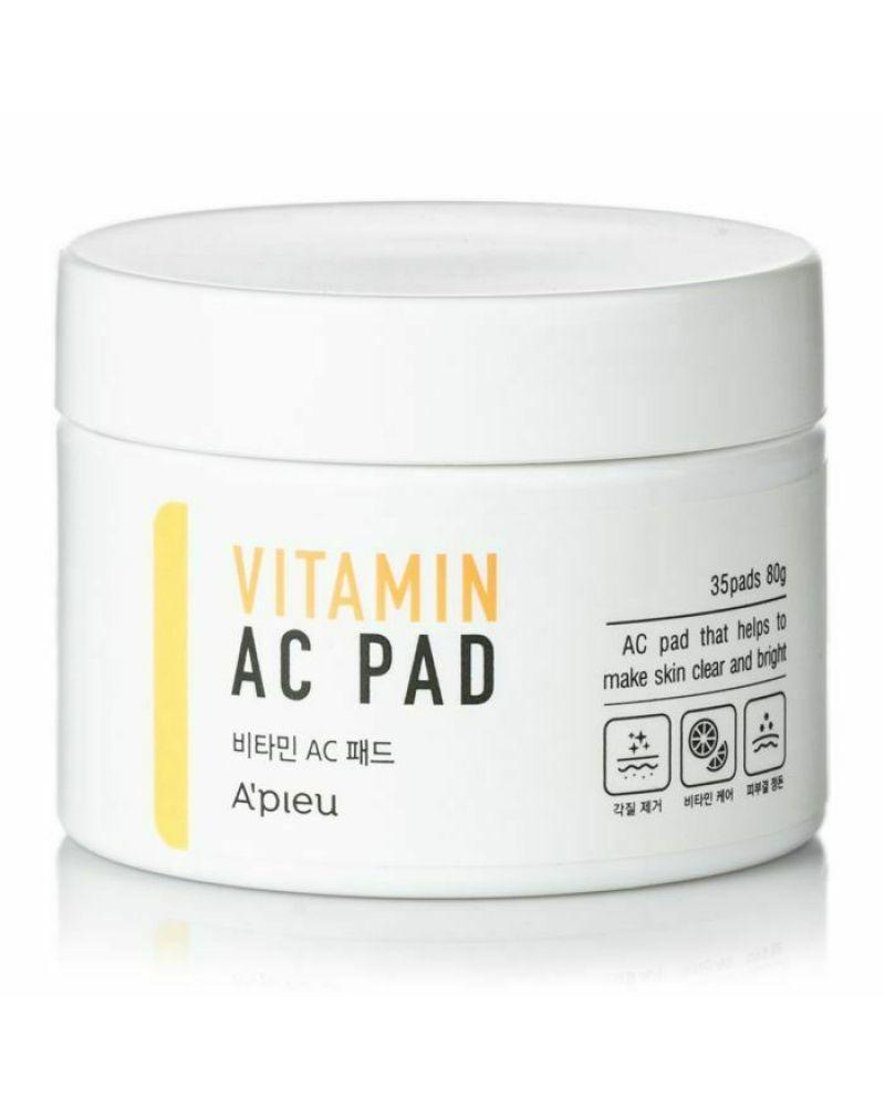 A'Pieu, Пилинг-диски, с АНА и ВНА-кислотами, и 6 витаминами, Vitamin AC Pad, 80гр