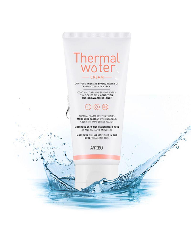 A'pieu, Увлажняющий, крем для лица, Thermal Water Cream, 80мл