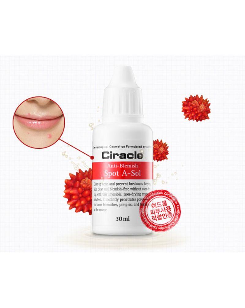 Ciracle, Средство точечное от акне, Anti-blemish Spot A Sol, 30 мл.