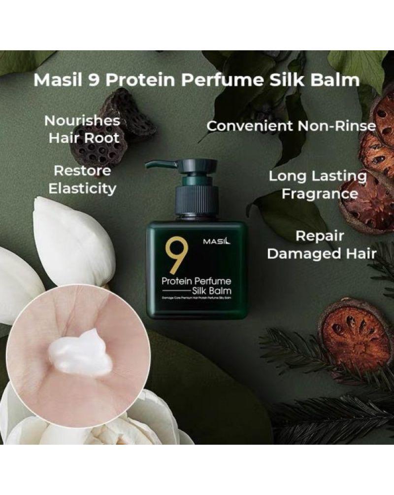 Masil, Несмываемый бальзам, для поврежденных волос, 9 Protein, Perfume Silk, Balm, 180 мл