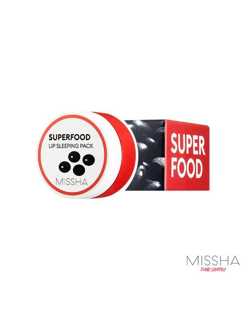 MISSHA, Маска для губ, Super Food, Black Bean, Lip Sleeping Pack