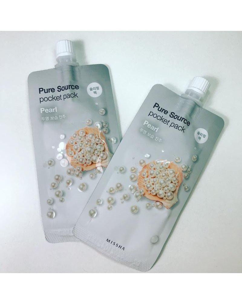 MISSHA, Ночная маска, для лица, Pure Source, Pocket Pack (Pearl), 10 мл
