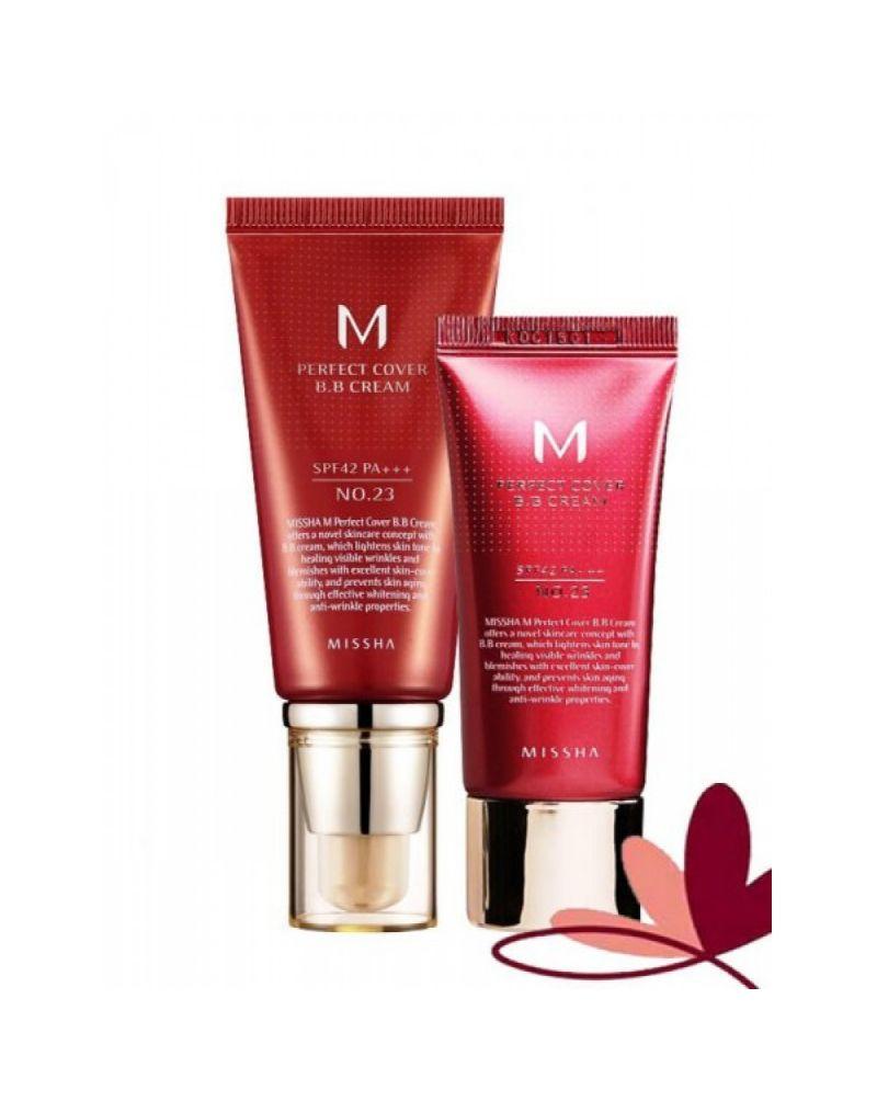 MISSHA, BB-крем, M Perfect Cover, BB Cream, SPF42/PA+++, 20мл