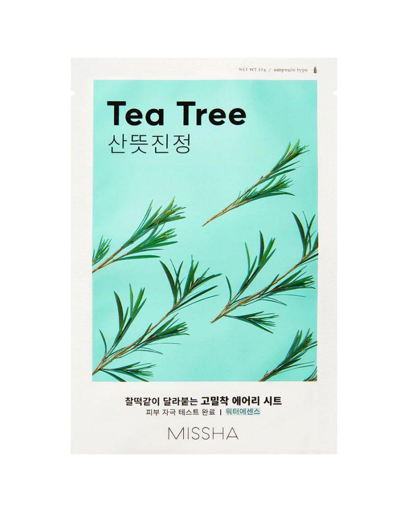 MISSHA, Маска для лица, Airy Fit, Sheet Mask (Tea Tree), 19 гр