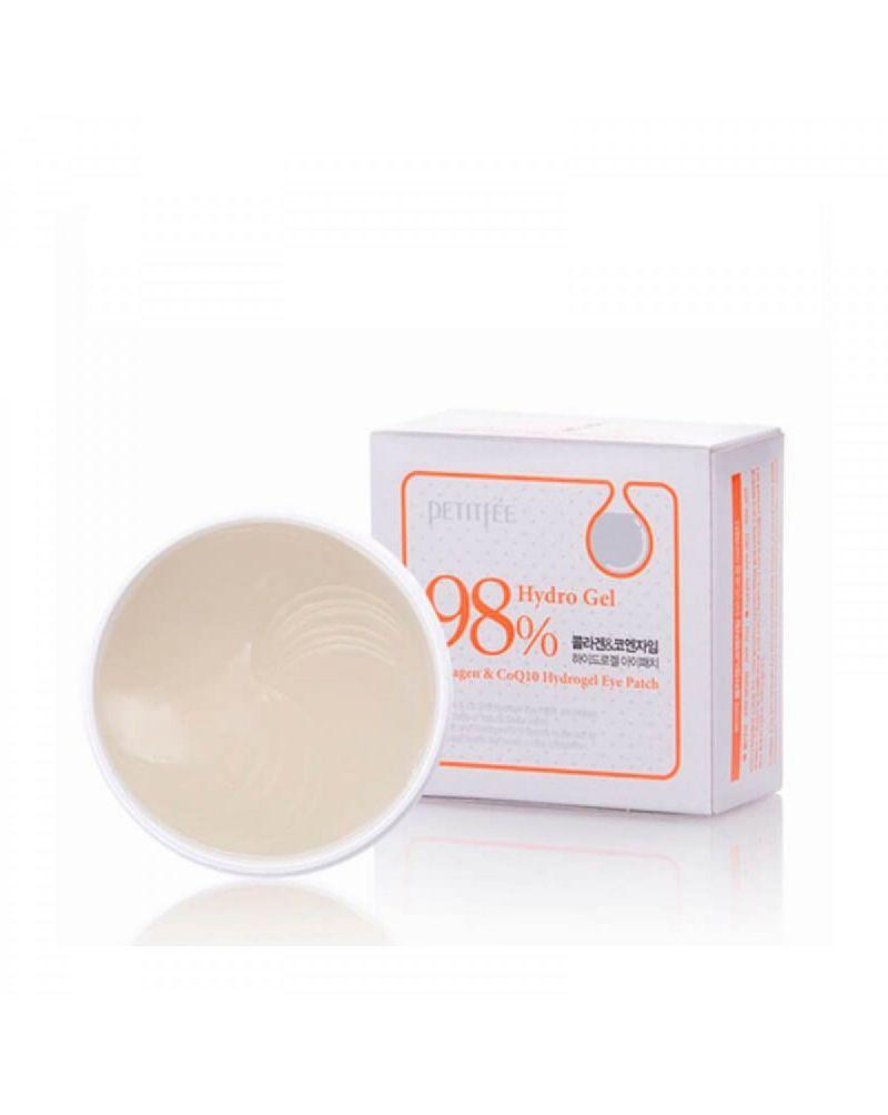PETITFEE, Набор патчей, для век, гидрогелевые, КОЛЛАГЕН, Q10, Collagen&CoQ10, Hydrogel Eye Patch, 60 шт