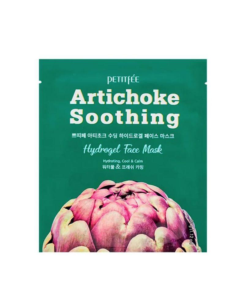 Petitfee, Гидрогелевая маска, с экстрактом артишока, Artichoke Soothing, Hydrogel Face Mask, 32 гр