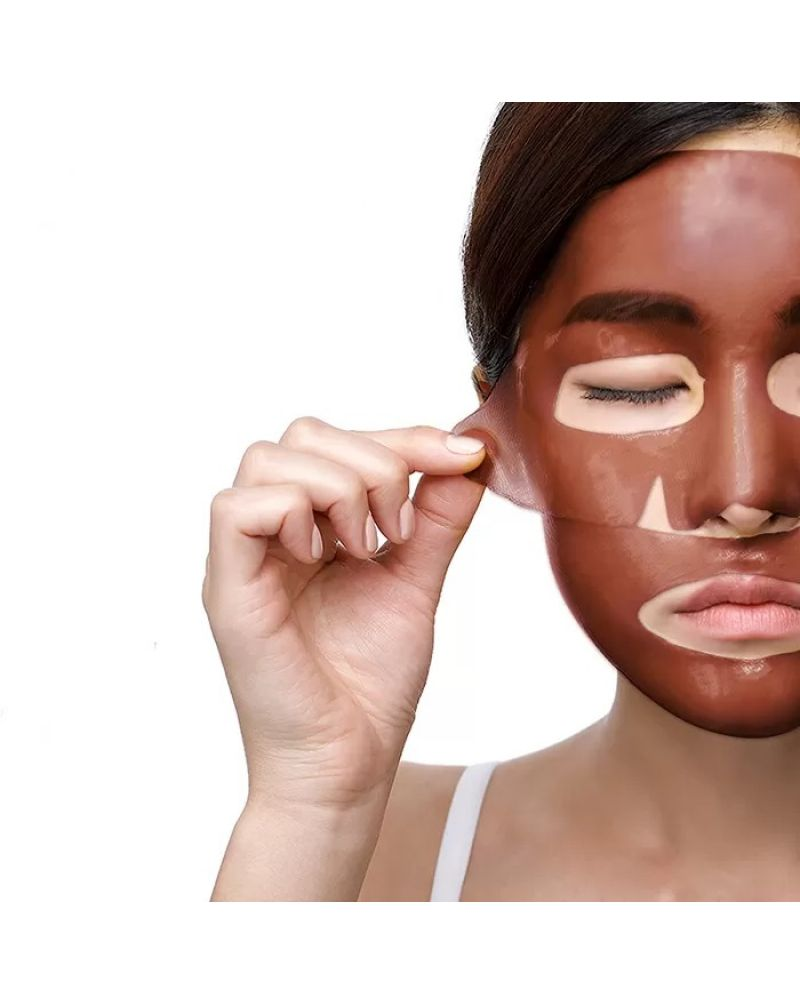PETITFEE, Гидрогелевая маска, для лица, КАКАО, Cacao, Energizing, Hydrogel Face Mask, 32 гр