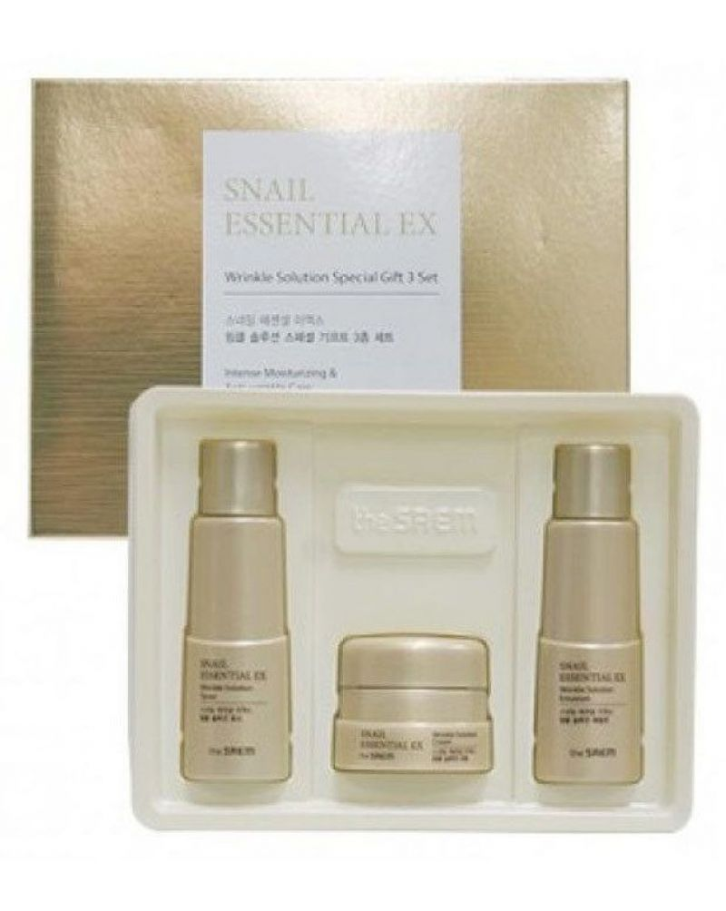 the SAEM, Набор уходовый антивозрастной, Snail Essential EX Wrinkle Solution Special Gift 3 Set, два по 31 мл. и 10 мл.